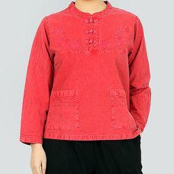 1373 3단추 티셔츠 20수 순면 3색상