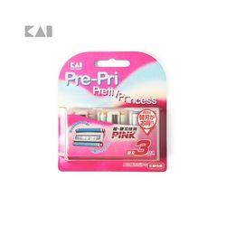 카이 여성용 무자극 면도기 리필 3개입 BS-3PP3 3782