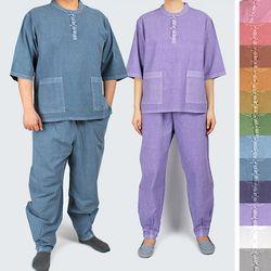 1113 [남녀공용] 티셔츠+바지 세트 30수 면 12색상