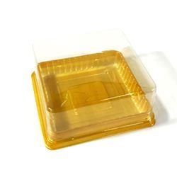 화과자케이스낮은정사각골드대10개8.4x8.4x4cm