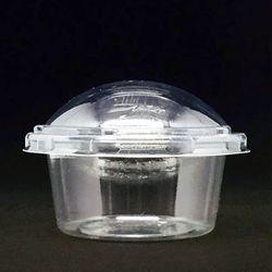 설기떡케이스돔형투명100개6x4.2cm