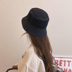 남녀공용 데님 벙거지 청 버킷햇 워싱 코튼 모자