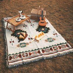 HOMFUL 감성 카페트 130x160 매트 캠핑용품 블랭킷