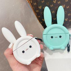 에어팟 1/2/프로 토끼 원형 실리콘 케이스 고리 세트