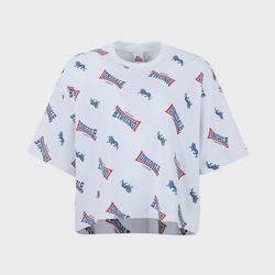 전판 프린트 반팔 라운드 티셔츠 LLBTS707F(NEWUI32YQR)
