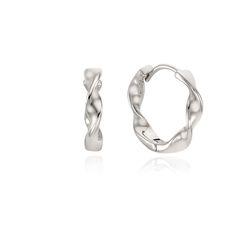 플랫 꼬임 원터치 링 귀걸이 OTE121601NWW