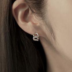 미니 체인 원터치 링 귀걸이 OTE121603NWW