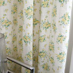 봄이야기 꽃무늬 커튼 가리개 방커튼 거실- L사이즈