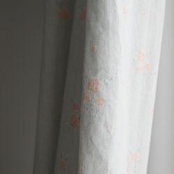 파스텔 꽃무늬 가림막 커튼-블루 가리개 S사이즈