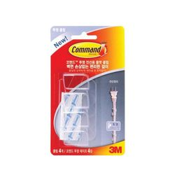 코맨드 투명 플랫 전선용 클립 17305 전선정리