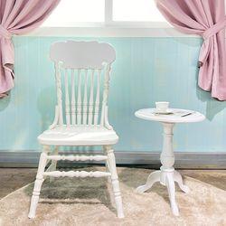 엔틱가구 영국형 화이트빈티지 의자 테이블 세트