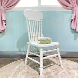 엔틱가구 영국형 화이트빈티지 의자 인테리어의자