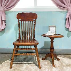 엔틱가구 영국형 브라운 의자 테이블 세트
