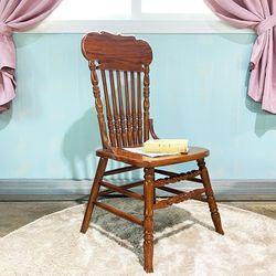 엔틱가구 영국형 브라운 의자 인테리어의자