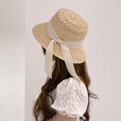 바캉스 파나마햇 페도라 밀짚모자 자외선차단 리본 여름 모자