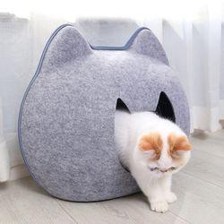 캣헤드 숨숨 하우스 고양이용품 방석 펫하우스