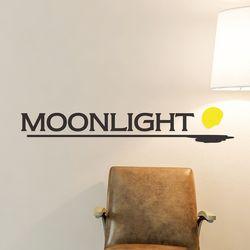 Moonlight 감성 레터링 인테리어 스티커