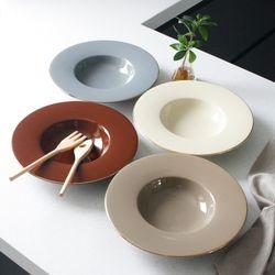 에크렌 골드 림(rim) 스파게티접시 - 4color