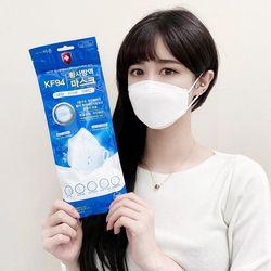 [무료배송] KF94 바른 마스크 입체형 화이트 5매입-100매
