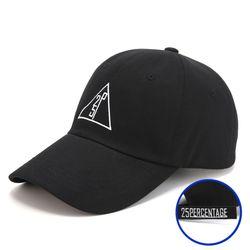 25P 트라이앵글 로고 오버핏 볼캡 [블랙]
