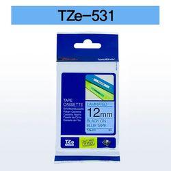브라더 테이프카트리지 TZ531(12mm Blue Black)