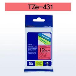 브라더 테이프카트리지 TZ431(12mm Red Black)