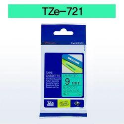 브라더 테이프카트리지 TZ721(9mm Green Black)