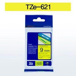 브라더 테이프카트리지 TZ621(9mm Yellow Black)