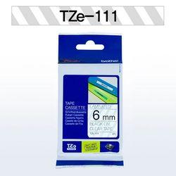 브라더 테이프카트리지 TZ111(6mm Clear Black)