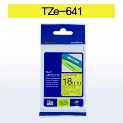 브라더 테이프카트리지(TZe-641 18mm 노랑 흑색문자)