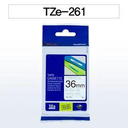 브라더 테이프카트리지(TZe-261 36mm 흰색 흑색문자)