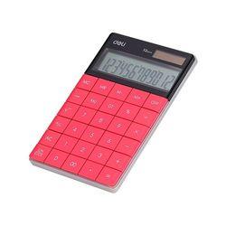 DELI 계산기 E1589PK 핑크(165X103mm 12자리)
