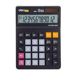 DELI 계산기 EM01420BK 블랙(규격 179X126mm 12자리)