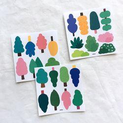 [비칼선] 나무 스티커 세트