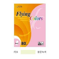 플라잉컬러 패럿(P24)(A4 80g 밝은녹색 25매 팩)