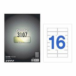 투명라벨16칸5매 IC-3107(5매 잉크젯용 99.1x33.9mm)