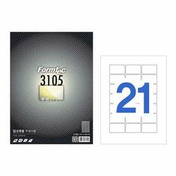 투명라벨21칸5매 IC-3105(5매 잉크젯용 63.5x38.1mm)