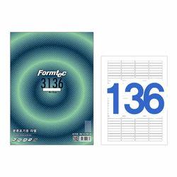폼텍 라벨136칸20매 LQ-3136(분류표기용 46x8mm)