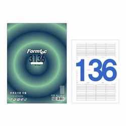 폼텍 라벨136칸100매 LS-3136(분류표기용 46x8mm)