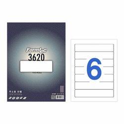 폼텍 라벨6칸20매 LQ-3620(주소용 119.3x42.8mm)