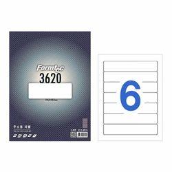 폼텍 라벨6칸100매 LS-3620(주소용 119.3x42.8mm)
