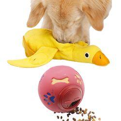 강아지 장난감 분리불안해소 노즈워크 킁킁 오리인형 스낵볼
