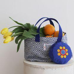 Summer tote bag (썸머 토트 백) blue