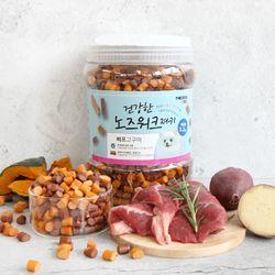 더독 노즈워크 대용량 강아지간식 비프&고구마 1.2kg