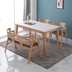 애드나 포세린 통세라믹 4인 식탁 세트2(벤치형)
