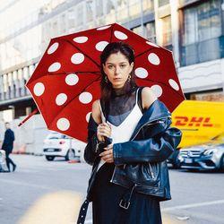 러버 3단 자동 우산