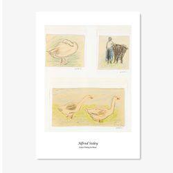 알프레드 시슬레 명화 인테리어 아트 포스터 6종 (5X7 사이즈)