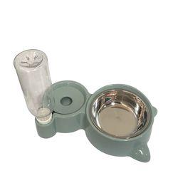 반려동물 반자동 급수식기 [파스텔 고양이-FDA0001] - 올리브
