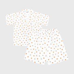 DOT CHERRY BEAR SHORT-WHITE(파자마)