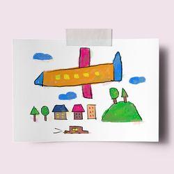 [drawingpaper] A3 포스터 - 떳다 떳다 비행기
